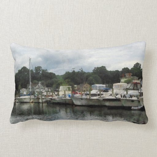 Boats on a Cloudy Day Essex CT Pillows