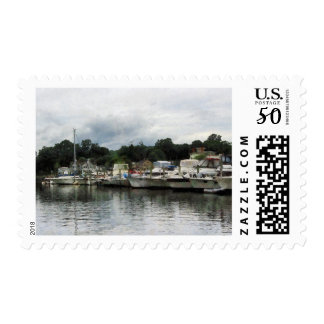 Boats on a Cloudy Day Essex CT Postage