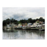 Boats on a Cloudy Day Essex CT Postcards