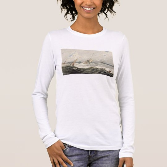 Boats on a Stormy Sea (w/c over graphite on wove p Long Sleeve T-Shirt
