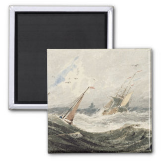 Boats on a Stormy Sea (w/c over graphite on wove p Magnet