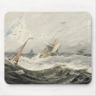 Boats on a Stormy Sea (w/c over graphite on wove p Mouse Pad