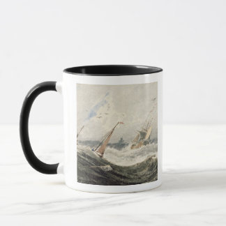 Boats on a Stormy Sea (w/c over graphite on wove p Mug