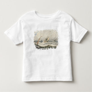 Boats on a Stormy Sea (w/c over graphite on wove p Toddler T-shirt