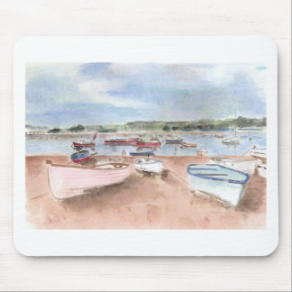 boats on back beach mouse pad