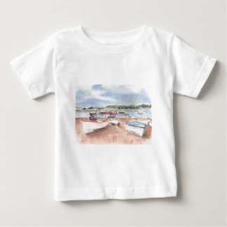 boats on back beach t-shirt
