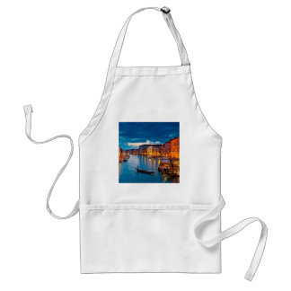 Boats On Canal Water Colorful Venice Italy Adult Apron
