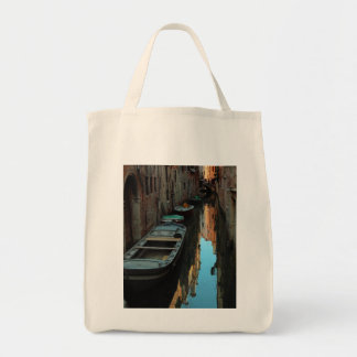 Boats on Canal Water Venice Italy Buildings Tote Bags