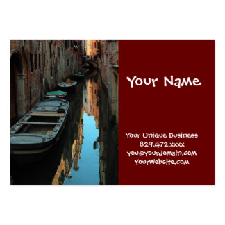 Boats on Canal Water Venice Italy Buildings Business Cards