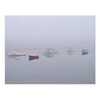 Boats on Cape Porpoise Harbor in Kennebunkport, ME Postcard