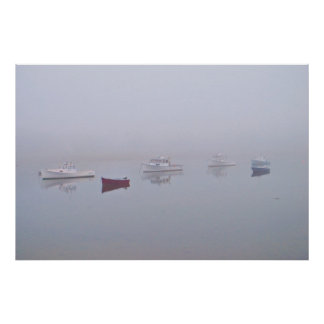 Boats on Cape Porpoise Harbor in Kennebunkport, ME Poster