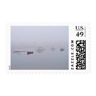 Boats on Cape Porpoise Harbor in Kennebunkport, ME Stamps