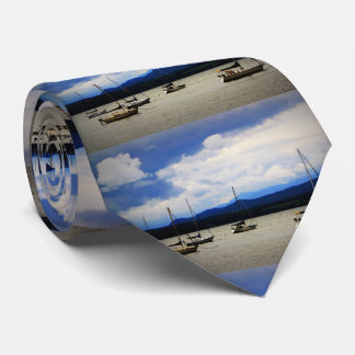 Boats on Lake Champlain Neck Tie