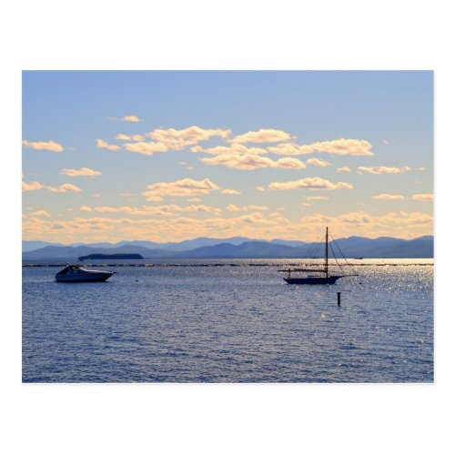 Boats on Lake Champlain Postcard
