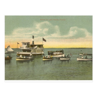 Boats on Lake Eustis, Florida - 1910 Postcard