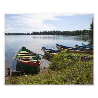 Boats on lake Photo