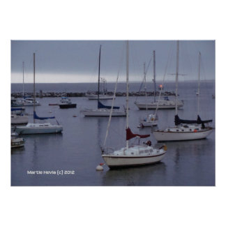 Boats on Monterey Bay Posters