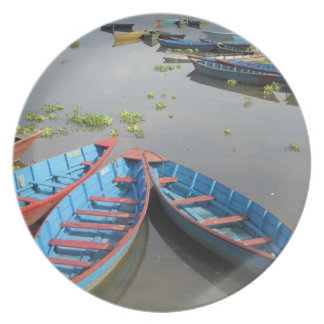 Boats on Phewa Lake Plate