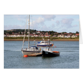 Boats on River Conwy, Wales Card