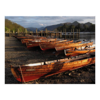 Boats On Shores Of Derwent Waters Poster