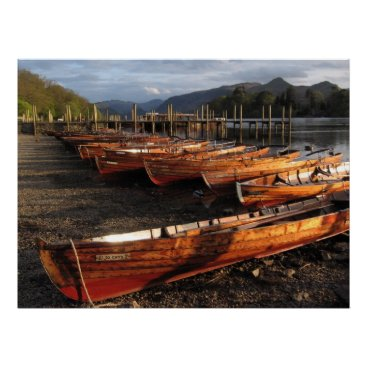 Art Themed Boats On Shores Of Derwent Waters Poster