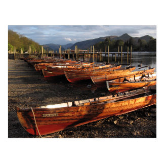 Boats on Shores of Derwentwater Postcard