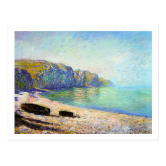 Boats on the Beach at Pourville, Low Tide Monet Postcard