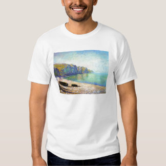 Boats on the Beach at Pourville, Low Tide Monet T-Shirt