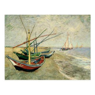 Boats on the Beach at Saintes-Maries Postcard