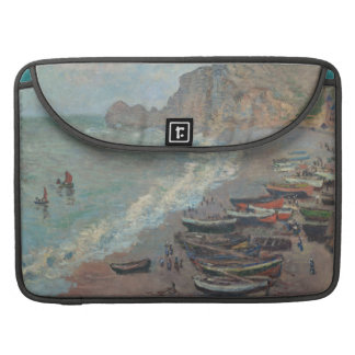 Boats on the Beach, Claude Monet MacBook Pro Sleeve