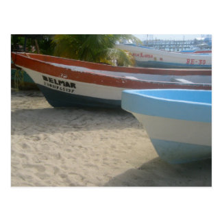 Boats on the Beach Postcard