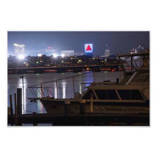 Boats on the Charles River Citgo Sign Boston Mass Photo Print