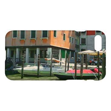 Beach Themed Boats on the Grand Canal iPhone Case