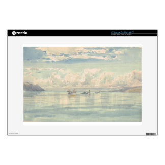 """Boats on the Lac Leman by Francois Bocion 15"""" Laptop Skins"""