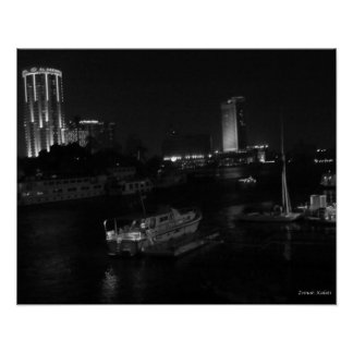 Boats on the Nile River - Cairo, Egypt Poster