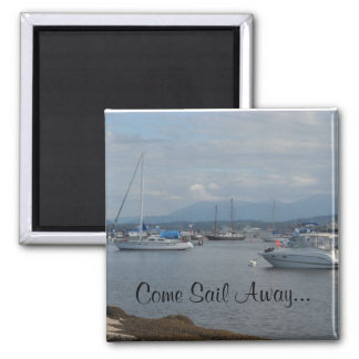 Boats on the Ocean Refrigerator Magnet