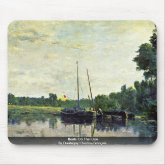 Boats On The Oise By Daubigny Charles-François Mouse Pad