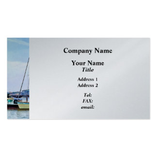 Boats on the Potomac Near Founders Park Business Card Templates