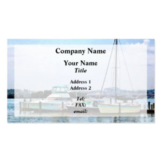 Boats on the Potomac Near Founders Park Business Card Template