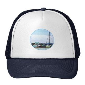 Boats on the Potomac Near Founders Park Trucker Hat
