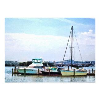Boats on the Potomac Near Founders Park Custom Invite