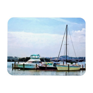 Boats on the Potomac Near Founders Park Rectangular Magnets