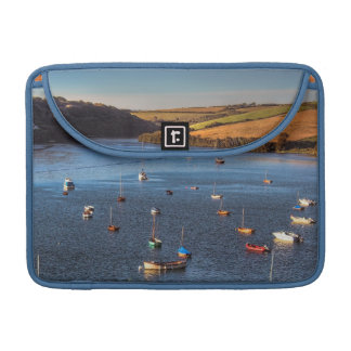 Boats on the River Avon at Bantham Sleeve For MacBooks