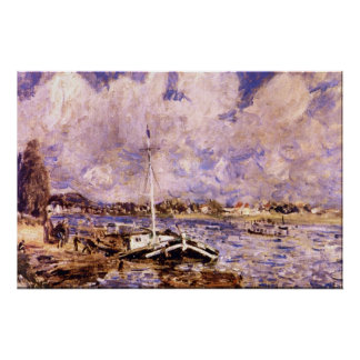 Boats on the Seine by Pierre Renoir Poster