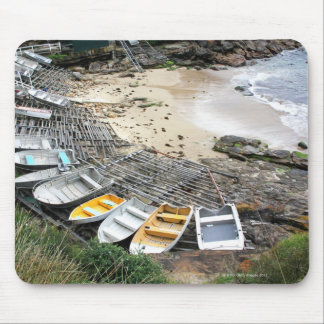 Boats on the shore of Gordon's Bay Mouse Pad