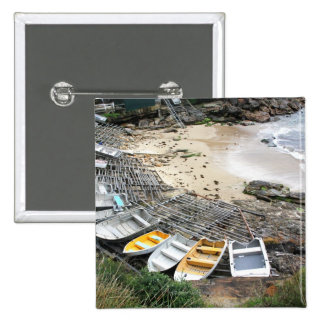 Boats on the shore of Gordon's Bay Pinback Button