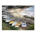 Boats on the shore of Gordon's Bay Postcard