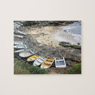 Boats on the shore of Gordon's Bay Puzzles