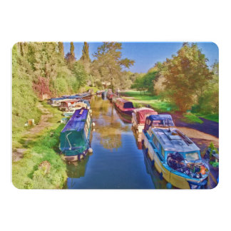Boats on the Somerset Canal Card