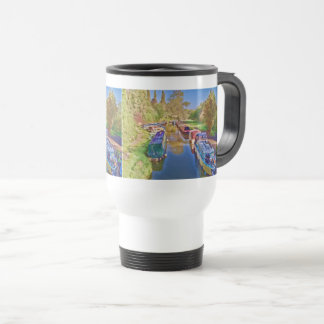 Boats on the Somerset Canal Travel Mug